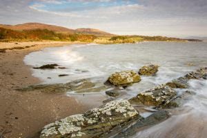 Sandy beach on the Solway coast in Galloway